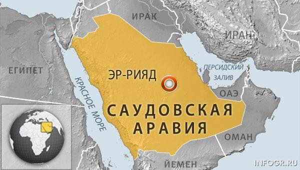 Карта Саудовской Аравии. Архивное фото