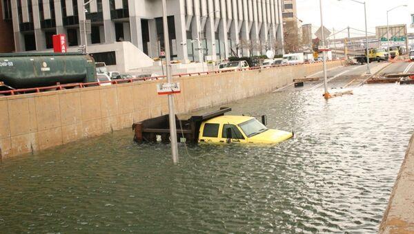 Затопленный тоннель в южной части Манхэттена