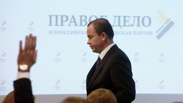 Председатель партии Правое дело Андрей Дунаев. Архив