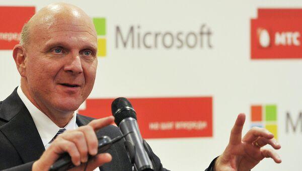 Генеральный директор Microsoft Стив Балмер. Архив
