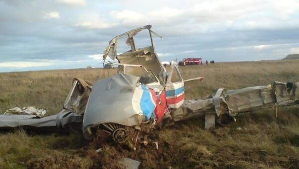 Крушение самолета Як-18 под Рязанью. Архивное фото