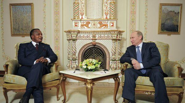 Президент России Владимир Путин ви президент Республики Конго Дени Сассу-Нгессо