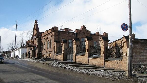 Город Енисейск, Красноярский край.Архивное фото