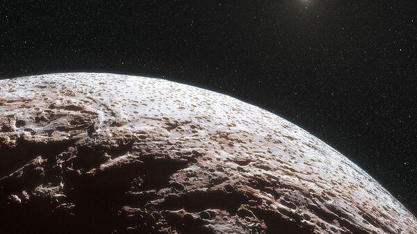Карликовая планета Макемаке в представлении художника