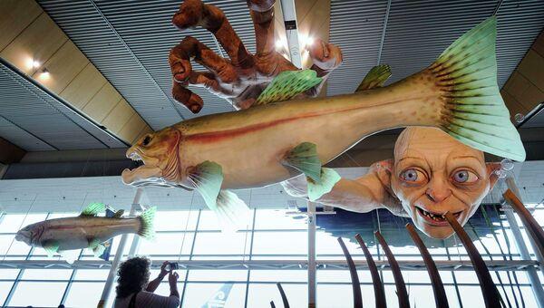 Персонажи произведений Дж. Р.Р. Толкиена в Международном аэропорту Веллингтона