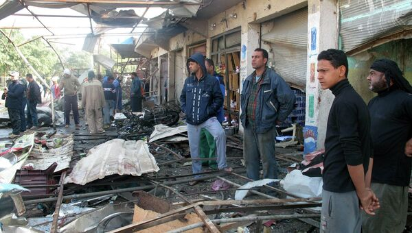 Последствия взрыва бомбы в городе Хилла