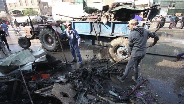 Последствия взрыва в городе Кербела, Ирак