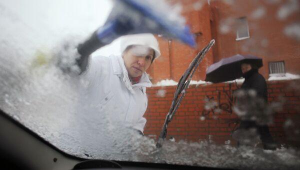 Последствия ледяного дождя в Москве. Архив
