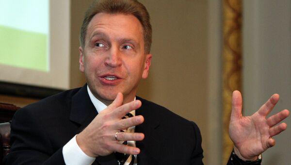 Первый заместитель председателя правительства РФ Игорь Шувалов, архивное фото