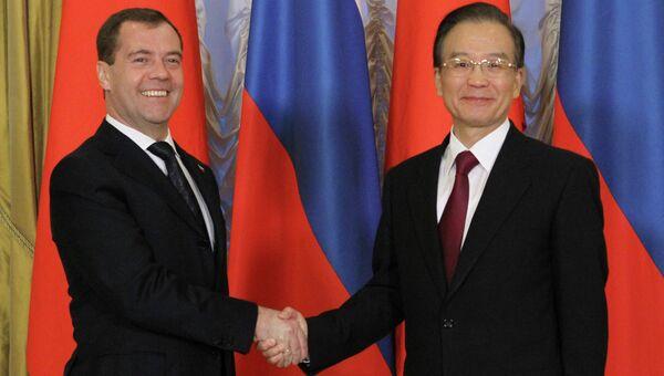Встреча Дмитрия Медведева и Вэнь Цзябао