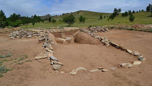Археологические раскопки хуннского княжеского могильника Оргойтон в Бурятии