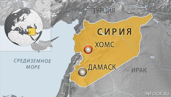 Четыре человека погибли при минометном обстреле сирийского города Хомс