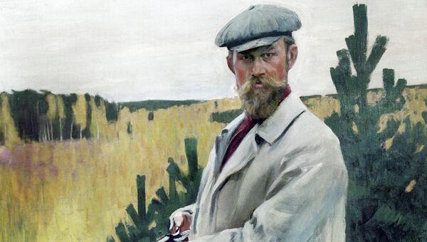 Бориса Кустодиев. Автопортрет на охоте