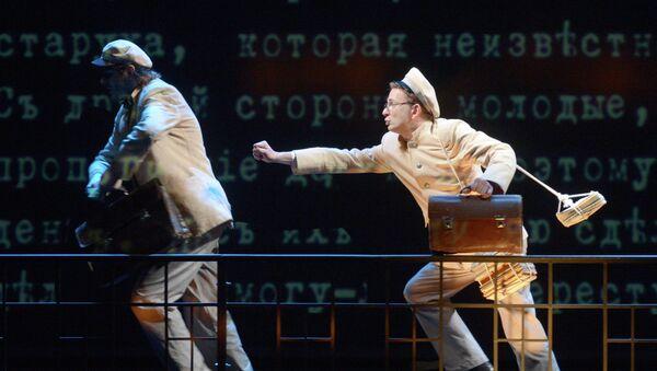 Прогон спектакля Р.Р.Р. в театре им. Моссовета