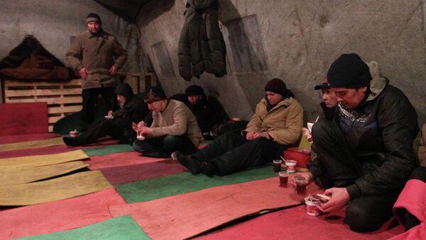 Работа пункта обогрева и ночлега для бездомных