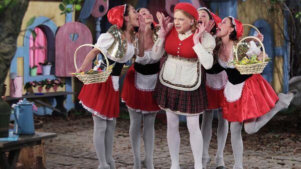 Съемка новогоднего телевизионного мюзикла Красная Шапочка