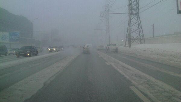 Морозная дорога, архивное фото