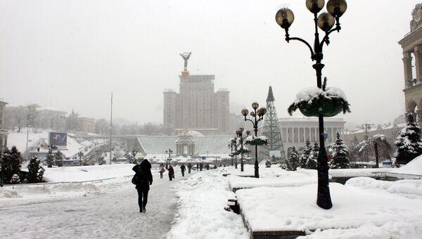 Мороз в Киеве. Архивное фото