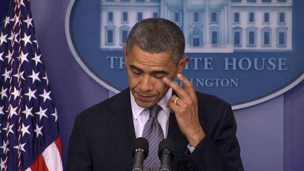 Обама говорил о расстреле детей в американской школе и утирал слезы