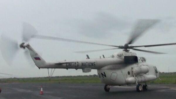 Вертолет российских миротворцев в Судане. Архивное фото