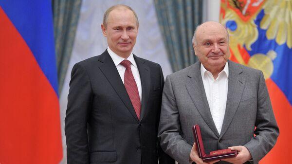 Владимир Путин и Михаил Жванецкий
