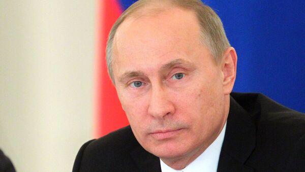 Владимир Путин на заседании Госсовета в Кремле. Архив