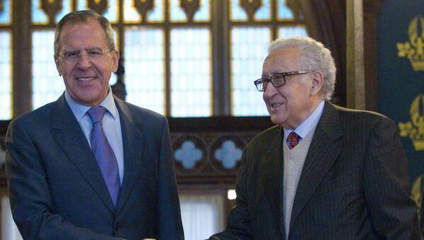 Встреча С.Лаврова с Л.Брахими