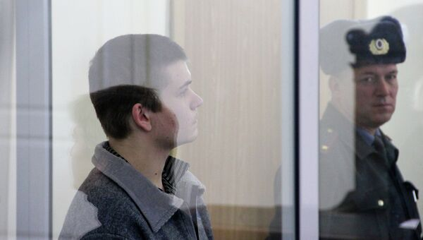 Осужденный Иван Иванченко во время оглашения приговора. Архивное фото