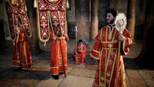 Рождественское богослужение в Вифлееме