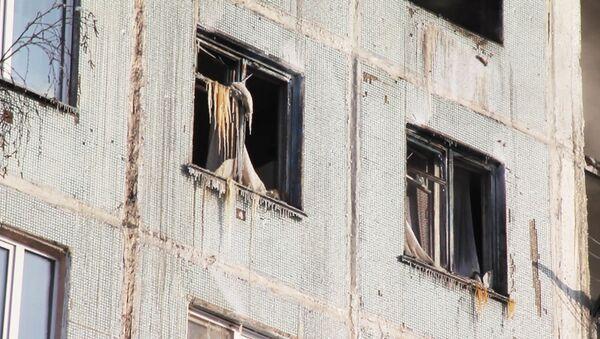 Последствия взрыва газа в жилом доме в Новокузнецке, где погибли два человека
