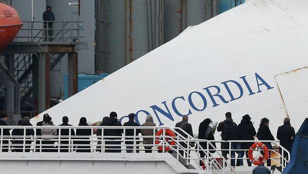 Памятная церемония в годовщину крущения Costa Concordia. Архив