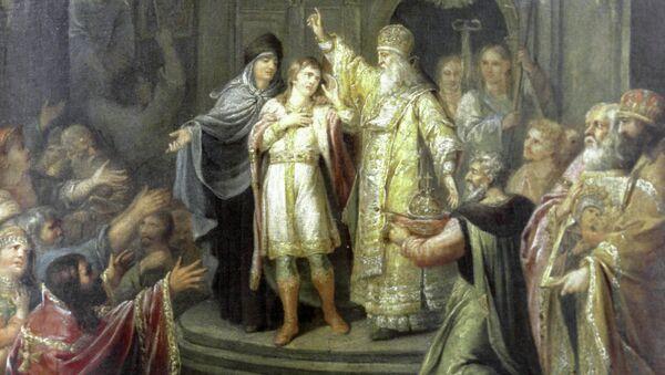 Картина Угрюмова Избрание Михаила Федоровича на царство