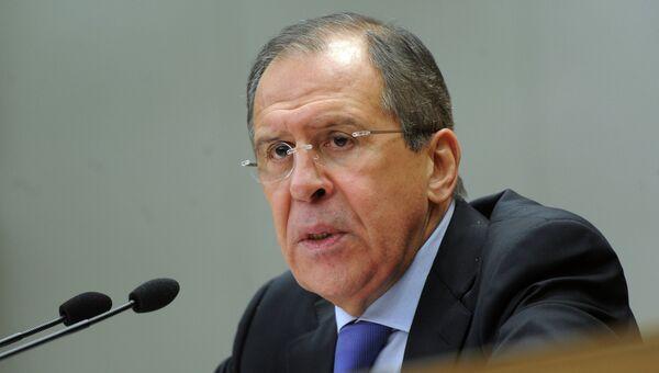 Министр иностранных дел Российской Федерации С.В.Лавров. Архив