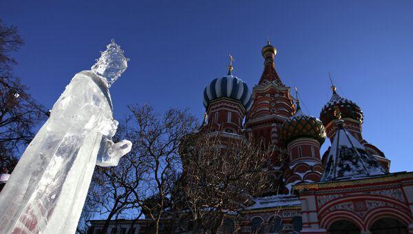 Этап Гран-При России по ледовой скульптуре в Москве