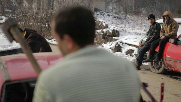 Кадр из фильма Эпизод из жизни сборщика железа режиссера Даниса Тановича, архивное фото