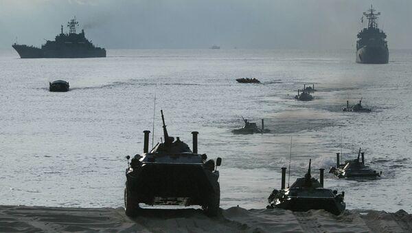 Учения Балтийского флота, архивное фото