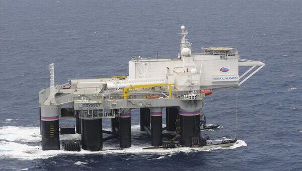Стартовая платформа Одиссей для запуска ракет в рамках программы Морской старт в Тихом океане