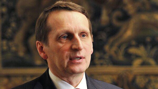 Председатель Государственной Думы Федерального Собрания РФ Сергей Нарышкин