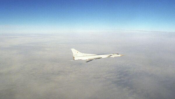 Сверхзвуковой самолет морской авиации ТУ-22 М3. Архивное фото