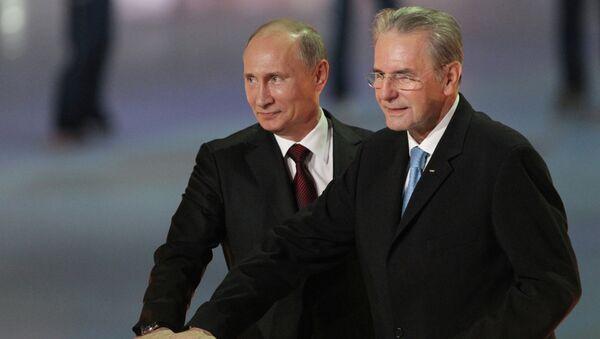 В.Путин на торжественной церемонии Год до Олимпийских игр-2014