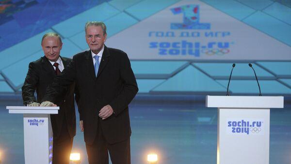 Владимир Путин (слева) и Жак Рогге