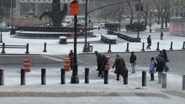 Снегопад в США, архивное фото