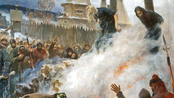 Фрагмент картины П.Е.Мясоедова Сожжение протопопа Аввакума