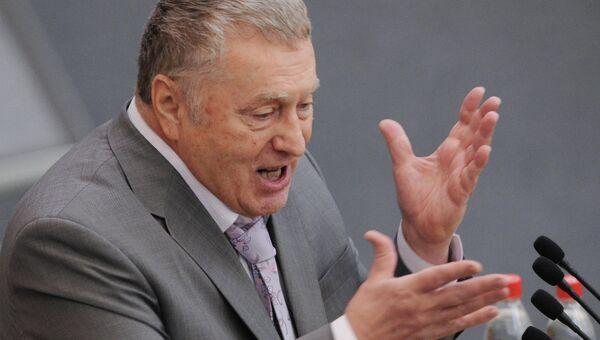 Лидер ЛДПР Владимир Жириновский на первом пленарном заседании Государственной Думы РФ