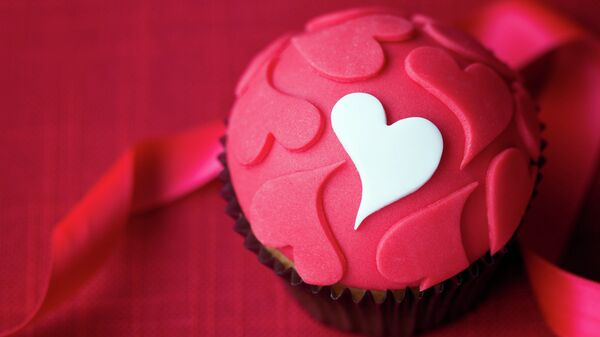 Пирожное Сердечки на День святого Валентина