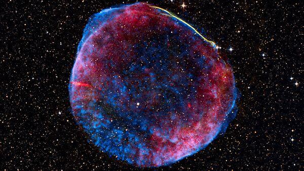 Сверхновая SN 1006 в созвездии Волка
