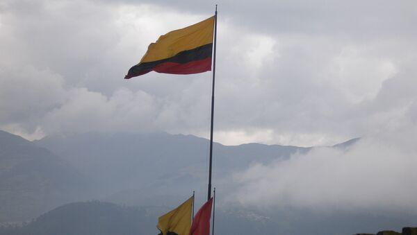 Флаг Эквадора. Архивное фото