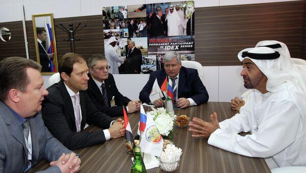 Встреча в рамках Международной выставки вооружений IDEX-2013 в Абу-Даби