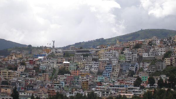Вид на Кито. Эквадор