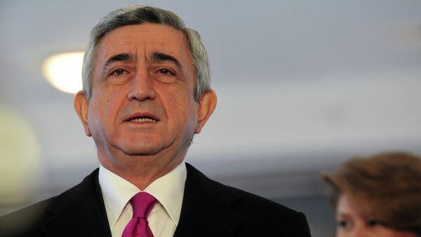 Президент Армении Серж Саргсян с супругой Ритой